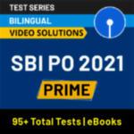 SBI PO Prime 2021 Online Test Series