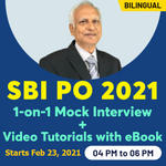 SBI PO Interview Boot Camp with 1-on-1 Mock Interview Bilingual | Live classes With Video Tutorials and eBook Batch by Adda247