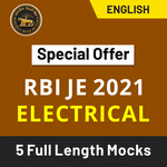 RBI JE Electrical 2021 Online Test Series (Special Offer)
