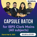 Capsule Batch for IBPS Clerk Mains | All Subjects | Live Class