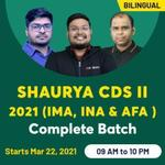 SHAURYA CDS II 2021 (IMA, INA & AFA )  | Complete Bilingual Live classes Batch by Adda247