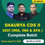 SHAURYA CDS II 2021 (IMA, INA & AFA )  | Complete Bilingual Live classes Batch by Adda247