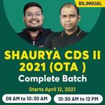 SHAURYA CDS II 2021 (OTA)  | Complete Bilingual Live classes Batch by Adda247