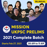 MISSION UKPSC Prelims 2021   UK GK Bilingual Live classes Batch by Adda247