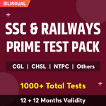 SSC and Railway Prime Test Pack Online Test Series for SSC CGL, SSC CPO, SSC CHSL, RRB NTPC, RRC Group D & Others 2021