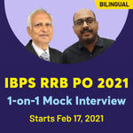 IBPS RRB PO 2021 1-on-1 Mock Interview Batch | Bilingual Live Classes By Adda247