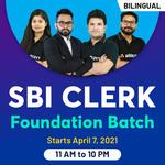 SBI Foundation Batch for PO & Clerk 2021 | Bilingual Live Classes By Adda247