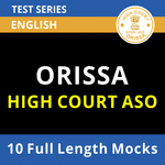 Orrisa High Court Assistant Section Officer Prelims 2021 Online Test Series