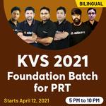 KVS 2021 Foundation Batch for PRT| Bilingual Live Classes by Adda247