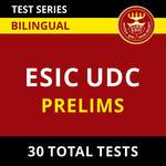 ESIC UDC Prelims 2021 Online Test Series