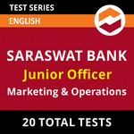 Saraswat Bank Junior Officer (Marketing and Operations) 2021 Online Test Series