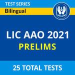 LIC AAO Prelims 2021 Online Test Series