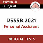 DSSSB Personal Assistant 2021 Online Test Series