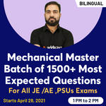 Master batch  for Mechanical 1500+ Most Expected Questions for all JE Exams | RVUNL -JE | SSC - JE | RSEB -JE | PSUs Bilingual Live Classes By Adda247