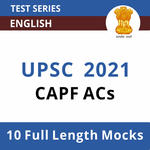 Central Armed Police Forces Assistant Commandant CAPF (ACs) 2021 Online Test Series