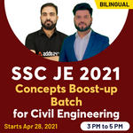 SSC JE 2021 Concepts Boost-up Batch for Civil Engineering Live Classes By Adda247