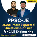PPSC JE 2500+ Most Expected Questions Capsule for Civil Engineering Bilingual | Live Classes By Adda247