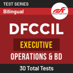 DFCCIL Executive Operations & BD 2021 Online Test Series