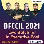 DFCCIL 2021 Batch For Junior Executive Post   Complete Batch   Bilingual (Hinglish) Live Classes by Adda247