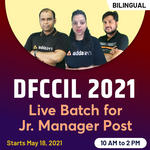 DFCCIL 2021 Batch For Junior Manager Post  | Complete Batch | Bilingual (Hinglish) Live Classes by Adda247