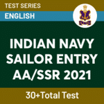 Indian Navy Sailor Entry AA/SSR 2021 Online Test Series