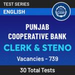 Punjab Cooperative Bank Clerk and Steno 2021 Online Test Series