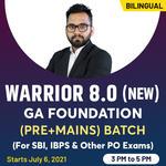 Warrior 8.0 GA & Current Affairs Foundation Batch For Bank PO Exams | Bilingual (Hinglish) | Live Classes By Adda247