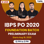 IBPS PO 2020 Preliminary batch Live Coaching Classes in Tamil by Adda247