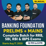 RRB, SBI, RBI and IBPS Exams 2020 Live Online classes of Maths & English Batch for Banking Foundation (Prelims + Mains) | Complete Bilingual Batch