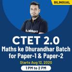 CTET 2020 exams Maths ke Dhurandhar Batch 2.0 for paper 1 & 2  | Complete live Bilingual classes