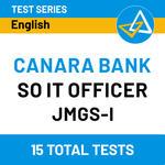 CANARA Bank SO IT Officer 2020-2021 Online Test Series