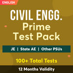 Civil Engineering Exam Online Test Series Prime Test Pack for (PSU's & State AE/JE) and Others 2021-22