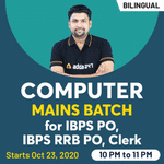 Computer Live Classes for IBPS PO, IBPS RRB PO, Clerk | Mains Batch | Bilingual