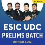 ESIC UDC Prelims 2021 Complete Live class Batch | Bilingual Live Classes by Adda247