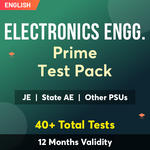 Electronics Engineering Exam Online Test Series Prime Test Pack for (PSU's & State AE/JE) and Others 2021-22
