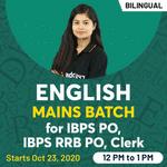 English Live Classes for IBPS PO, IBPS RRB PO, Clerk | Mains Batch | Bilingual