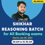Reasoning for Banking ( IBPS, SBI, RBI ) - Live Online Classes of Reasoning | Complete Bilingual SHIKHAR Reasoning Batch by Adda247