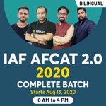 AFCAT 2 2020 live online classes - Complete Bilingual Batch