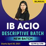 IB ACIO Tier II - Descriptive Type | Bilingual | Live Classes By Adda247