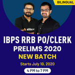 IBPS RRB PO/CLERK Prelims 2020 New Batch |Bilingual | Live Classes