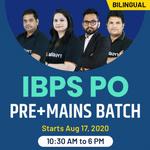IBPS PO Pre+Mains Batch | Bilingual | Live Class