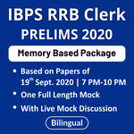 IBPS RRB Clerk Prelims Memory Based Paper with Live Discussion Based on Papers of 19th Sept 2020