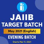 JAIIB Target Batch May 2021 (PPB+AFB+LRB) | Live Classes + Mock Test | English Medium