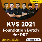 KVS 2021 Foundation Batch for TGT/PGT/PRT| Bilingual Live Classes by Adda247