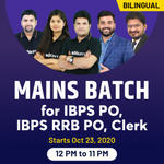 IBPS PO, IBPS RRB PO, Clerk Live Class Batch  for Mains exam | Bilingual