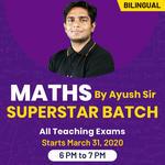MATHS SUPERSTAR BATCH BY AYUSH SIR | ALL TEACHING EXAMS | Bilingual | Live Classes