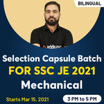 Selection Capsule Batch for | SSC JE 2021 | Mechanical Crash course | Bilingual Live Classes by Adda247