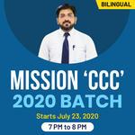 MISSION 'CCC' 2020 Batch | Bilingual | Live Classes