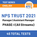 NPS Trust Recruitment exam online Test Series 2021 for  Manager | Assistant Manager Phase Post