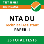 NTA Delhi University Technical Assistant 2021 Online Test Series